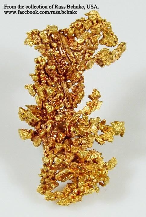 """זהב בהתגבשות. פריט של האספן ראס בהנק מארה""""ב. From the collection of Russ Behnke, USA"""
