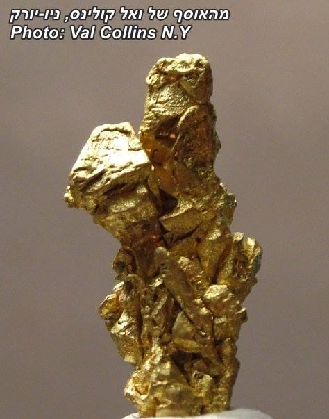 גוש זהב גולמי. מהאוסף של ואל קולינס מניו-יורק. מהאוסף של ואל קולינס, ניו-יורק. Photo: Val Collins N.Y
