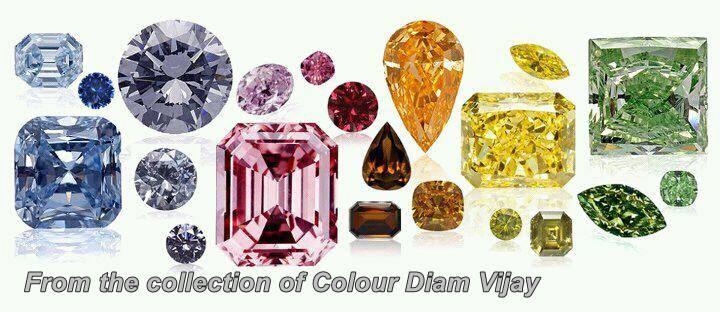מבחר יהלומים משובצים בתמונות וצבעים שונים. From the collection of Color Diam Vijay www.facebook.com/colourdiam