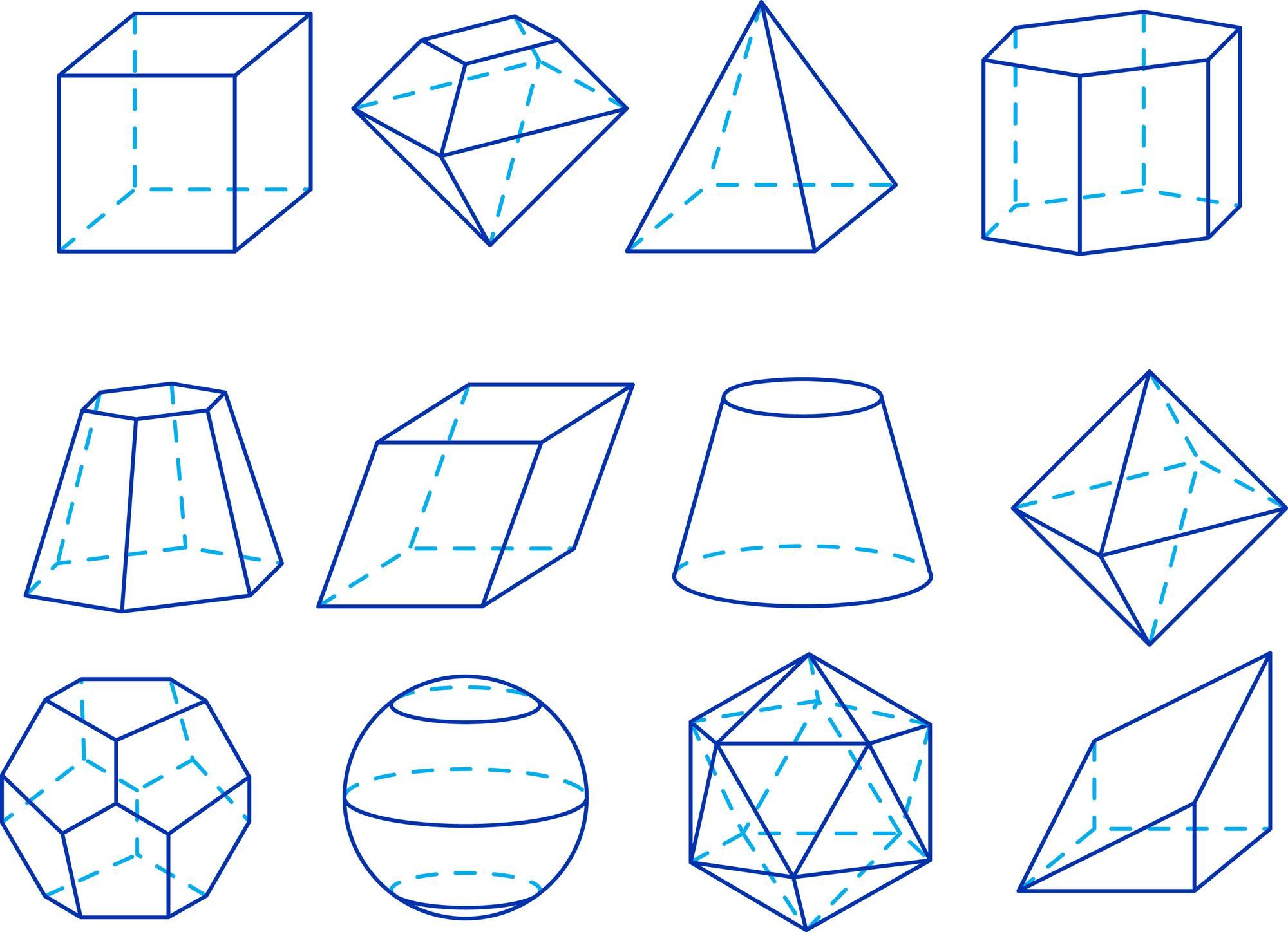 """צורות גיאומטריות שונות שיוצר המבנה הקובי (שלושה צירים שווים זה לזה באורך ומאונכים זה לזה ב-90 מעלות). צורות גיאומטריות שונות שיוצר המבנה הקובי (שלושה צירים שווים זה לזה באורך ומאונכים זה לזה ב-90 מעלות). התמונה ממאגר """"דפוזיט"""" From """"Deposit"""" Photos"""