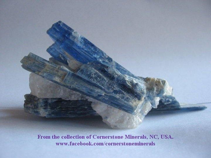 """מושבה יפהפיה של קיאנייט כחולה. מהאתר של """"קורנרסטון מינרלס"""". From Cornerstone minerals  www.cornerstoneminerals.com"""