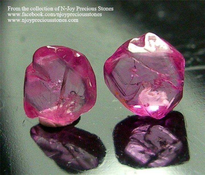 """אבני רובי שקופות באיכות גבוהה. מהאוסף של החנות האמריקאית """"אן-ג'וי"""". From the collection of N-Joy Precious Stones"""