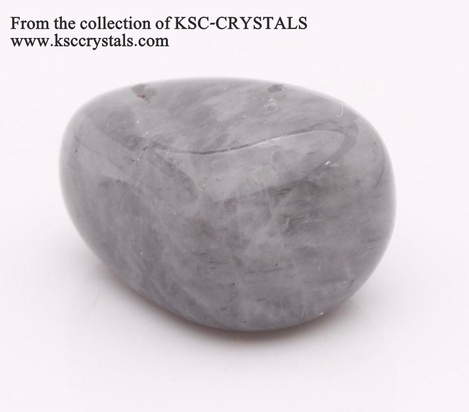 חלוק בהיר יחסית של לונאר קוורץ אפורה. מהאוסף של החנות קיי.אס..סי קריסטלס  From the collection of KSC-CRYSTALS www.ksccrystals.com